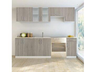 Jeu d'armoires de cuisine 7 pcs Aspect de chêne - vidaXL