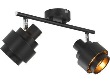 Projecteur à 2 voies Noir E14 - vidaXL