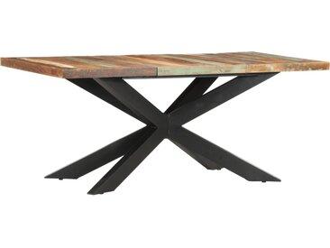 Table de salle à manger 180x90x76cm Bois de récupération solide  - vidaXL