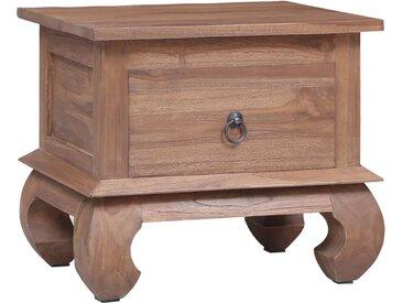 Table de chevet 45x35x40 cm Bois de teck solide - vidaXL