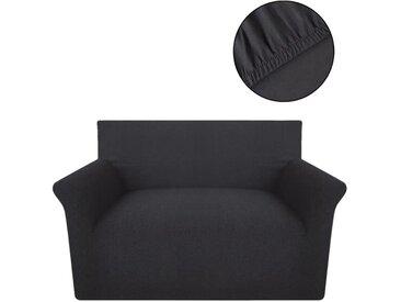 Housse extensible de canapé Anthracite Jersey de coton  - vidaXL