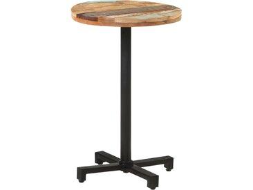 Table de bistro Ronde Ø50x75 cm Bois de récupération massif - vidaXL