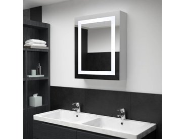 Armoire de salle de bain à miroir LED 50x13x70 cm - vidaXL