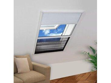 Moustiquaire plissée pour fenêtre 160 x 110 cm avec store occultant - vidaXL