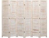Cloison de séparation 6 panneaux 210x165 cm Bois - vidaXL