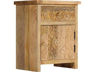 Table de chevet Bois de manguier massif 40 x 30 x 50 cm - vidaXL