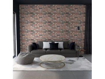 Panneaux muraux 3D design brique Gris et marron foncé 11pcs EPS - vidaXL