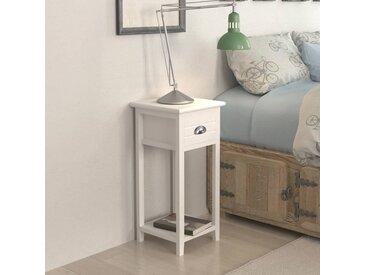 Table de chevet avec 1 tiroir Blanc  - vidaXL