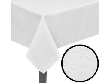 5 Nappes de table Blanc 220 x 130 cm - vidaXL