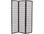 Cloison de séparation 3 panneaux Style japonais 120x170 cm Noir - vidaXL