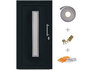 Porte d'entrée principale Anthracite 98x190 cm - vidaXL