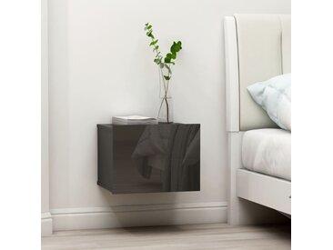 Table de chevet Gris brillant 40 x 30 x 30 cm Aggloméré - vidaXL