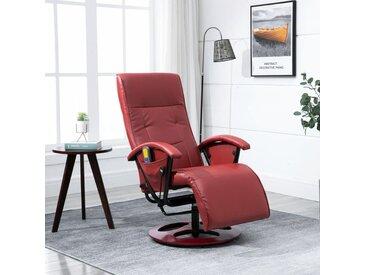 Fauteuil de massage Rouge bordeaux Similicuir - vidaXL