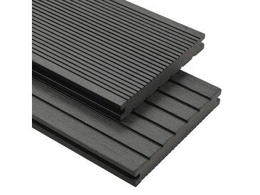 Panneaux de terrasse WPC solides et accessoires 10 m² 4 m Gris - vidaXL