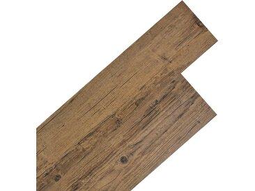Planche de plancher PVC autoadhésif 5,02 m² 2 mm Marron noyer - vidaXL