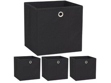 Boîte de rangement 4 pcs Tissu non-tissé 32 x 32 x 32 cm Noir  - vidaXL
