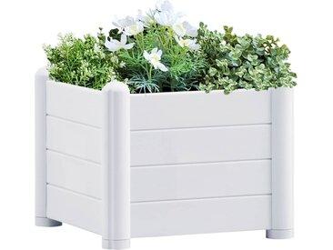 Lit surélevé de jardin PP Blanc 43x43x35 cm - vidaXL