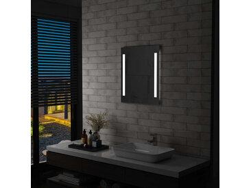 Miroir mural à LED pour salle de bains avec étagère 50x70 cm - vidaXL