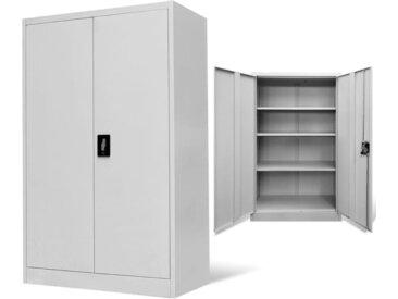 Armoire de bureau 90x40x140 cm Acier Gris    - vidaXL