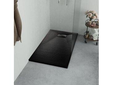 Bac de douche SMC Noir 90 x 80 cm - vidaXL