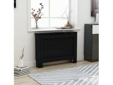 Cache-radiateur Noir 112x19x81 cm MDF - vidaXL