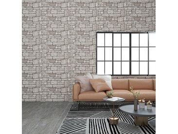 Panneaux muraux 3D avec design de brique gris 11 pcs EPS - vidaXL