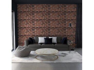 Panneaux muraux 3D design brique marron foncé 11 pcs EPS - vidaXL