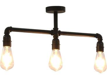 Plafonnier Noir 3 ampoules E27 - vidaXL