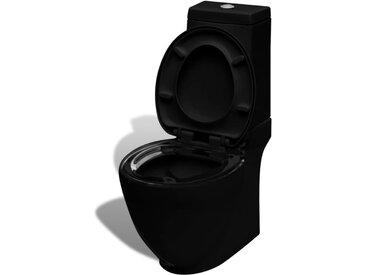 Toilette avec réservoir carré Noir - vidaXL