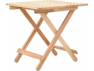 Table d'appoint pliante 50 x 50 x 49 cm Bois de noyer massif - vidaXL