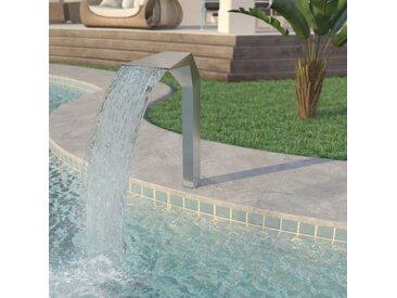 Fontaine d'étang Acier inoxydable 50 x 30 x 90 cm Argenté   - vidaXL