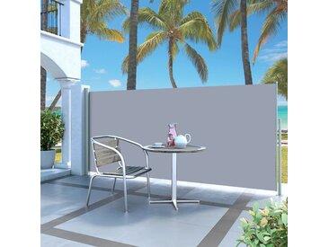 Auvent latéral rétractable 140 x 300 cm Blanc cassé - vidaXL