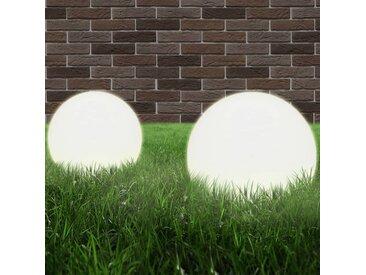 Lampe à LED sous forme de boule 2 pcs Sphérique 25 cm PMMA  - vidaXL