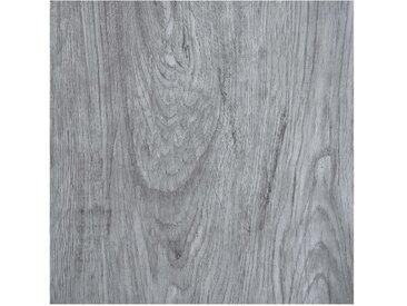 Planches de plancher autoadhésives 5,11 m² PVC Gris clair - vidaXL