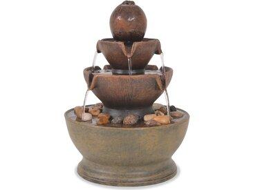 Fontaine d'intérieur avec pompe Polyrésine  - vidaXL