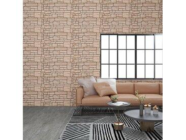 Panneaux muraux 3D avec design de brique beige 11 pcs EPS - vidaXL