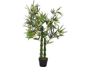 Plante artificielle avec pot Bambou Vert 110 cm - vidaXL