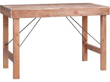Table de salle à manger 120x60x80cm Bois de récupération solide - vidaXL