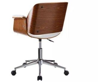 Chaise de bureau Simili Cuir Blanc - CONCORDE - L 59 x l 57 x H 80 - vidaXL