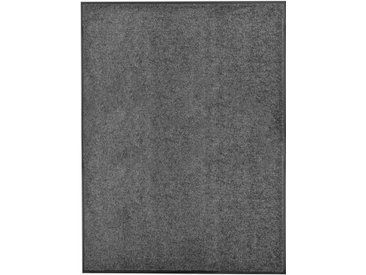Paillasson lavable Anthracite 90x120 cm - vidaXL