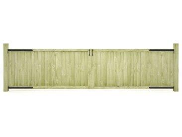 Portillons de jardin 2 pcs Bois de pin imprégné FSC 400x100 cm - vidaXL