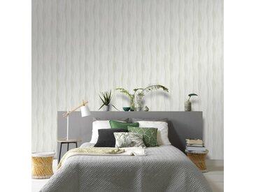 Rouleaux de papier peint Non tissé 4 pcs Blanc 0,53x10 m Vagues - vidaXL