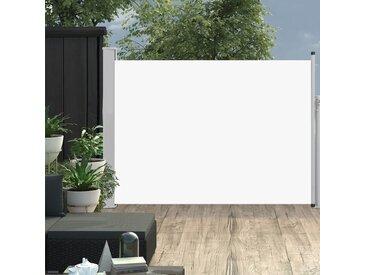 Auvent latéral rétractable de patio 120x500 cm Crème - vidaXL