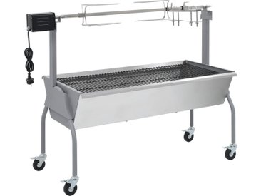 Rôtissoire pour barbecue électrique Acier inoxydable - vidaXL