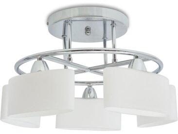 Plafonnier avec 5 globes ellipsoïdes pour ampoules E14 200 W  - vidaXL