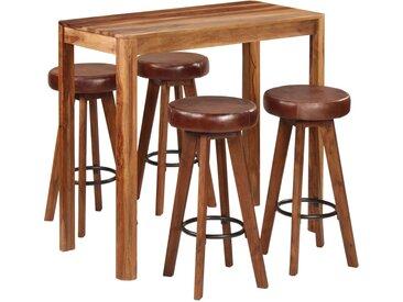 Ensemble de bar 5 pcs Bois solide de Sesham 115x56x107 cm - vidaXL