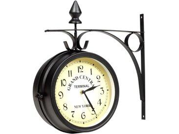 Horloge murale double face 20 cm - vidaXL