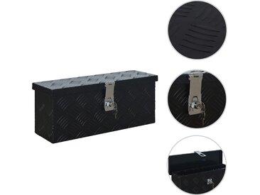 Boîte en aluminium 485x140x200 mm Noir - vidaXL