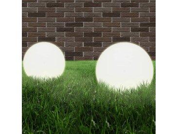 Lampe à LED sous forme de boule 2 pcs Sphérique 40 cm PMMA  - vidaXL