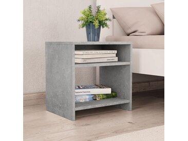 Table de chevet Gris cement 40 x 30 x 40 cm Aggloméré - vidaXL